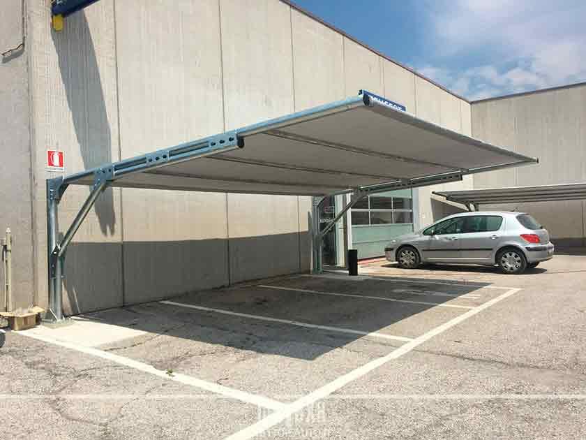 Coperture auto antigrandine e ombreggianti mx12 tettoie for Posto auto coperto con officina annessa