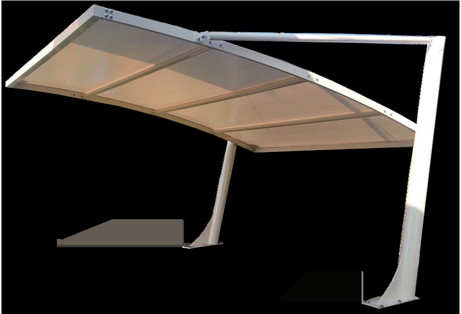 tettoia auto modulare
