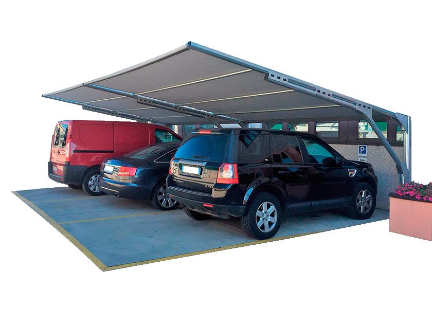 tettoie per auto per aziende