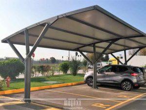 Pensiline auto coperture per parcheggi