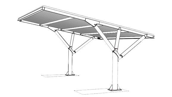 Pensiline per auto copertura alluminio