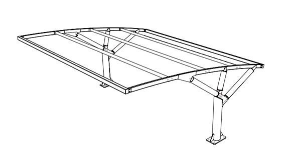 Configurazione tettoia auto MX19 ribassata