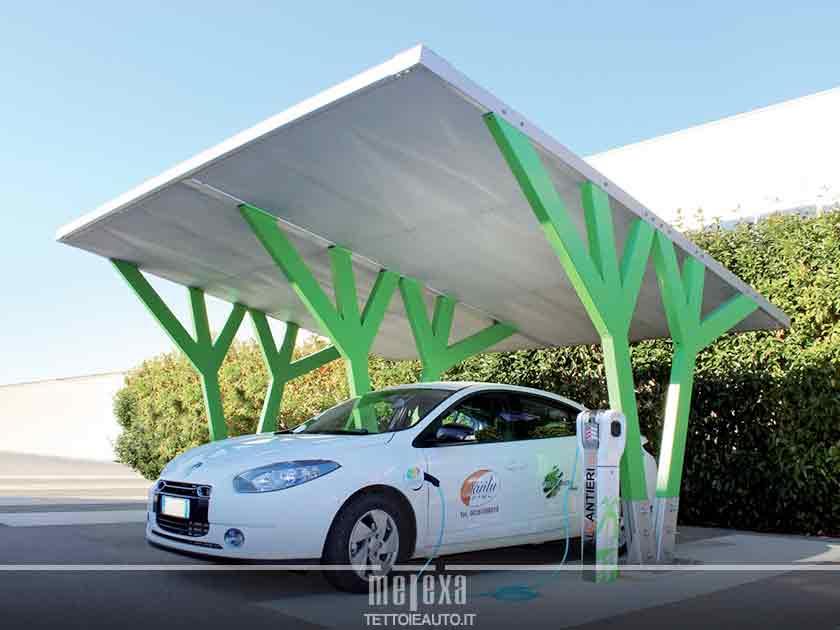 pensiline per stazioni di ricarica auto elettriche