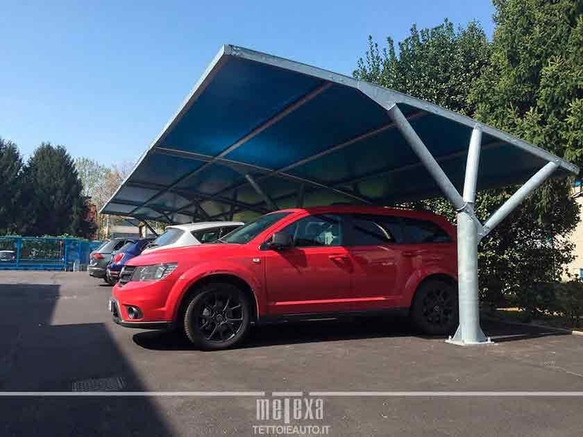 tettoie auto cuneo per parcheggio aziendale