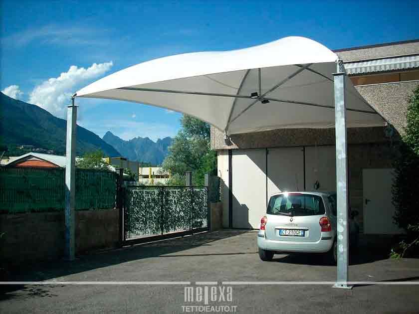 Gazebo per auto e tensostrutture per parcheggi metexa for Gazebo per auto usato