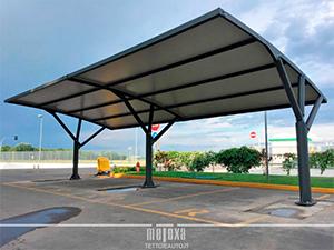 tettoie auto parcheggi aziendali