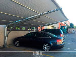tettoie auto ombreggianti