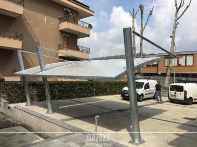tettoia auto per parcheggio condominiale