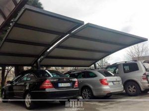 pensilina auto per parcheggio