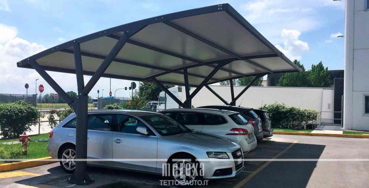 Coperture per auto pensiline e tettoie auto per parcheggi for Tettoie per auto ticino