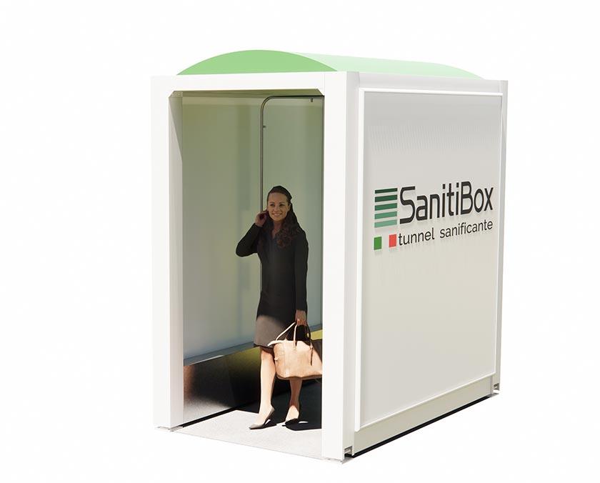 tunnel sanificatore per igienizzazione